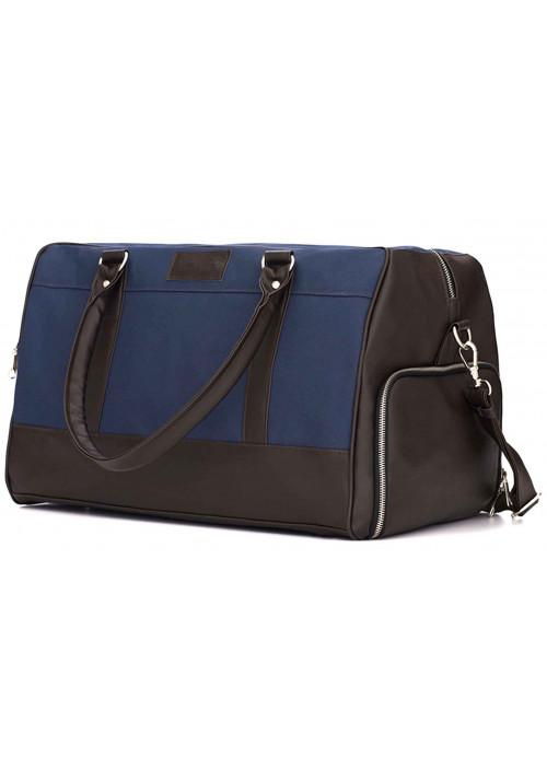 Мужская дорожная сумка из ткани Solier S18 Blue and Brown