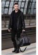 Мужская дорожная сумка из ткани Solier S18 Blue and Brown, фото №6 - интернет магазин stunner.com.ua