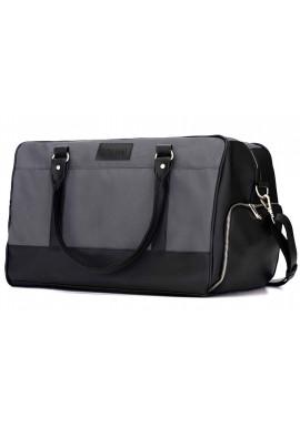 Фото Мужская дорожная сумка из текстиля Solier S18 Grey Black