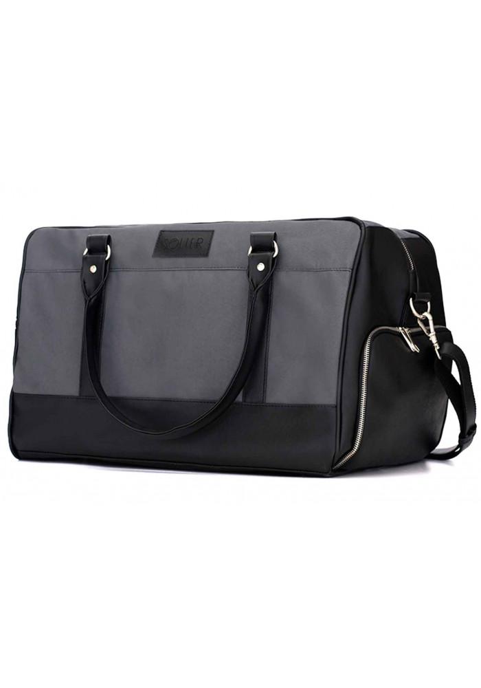 Мужская дорожная сумка из текстиля Solier S18 Grey Black