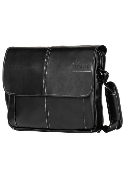 Мужская сумка на плечо Solier S15 Black