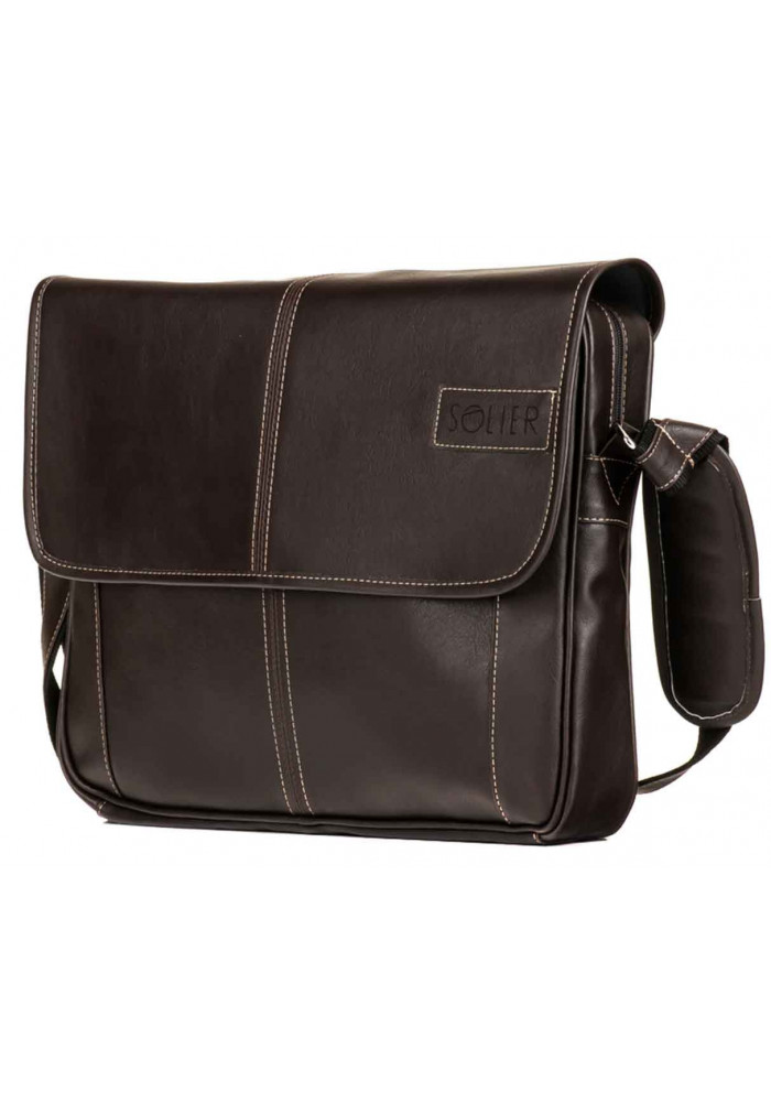 Мужская сумка на плечо Solier S15 Brown
