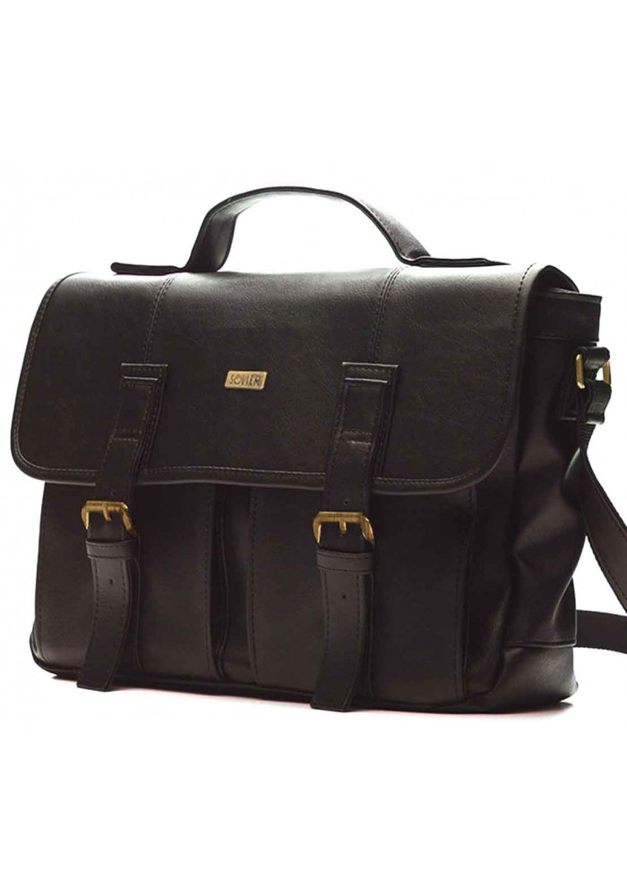 Мужская сумка для города Solier S14 Dark Brown