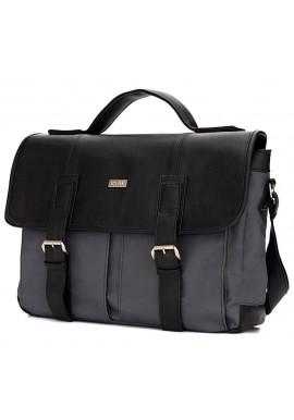 Фото Мужская сумка для города из ткани Solier S14 Grеy Black