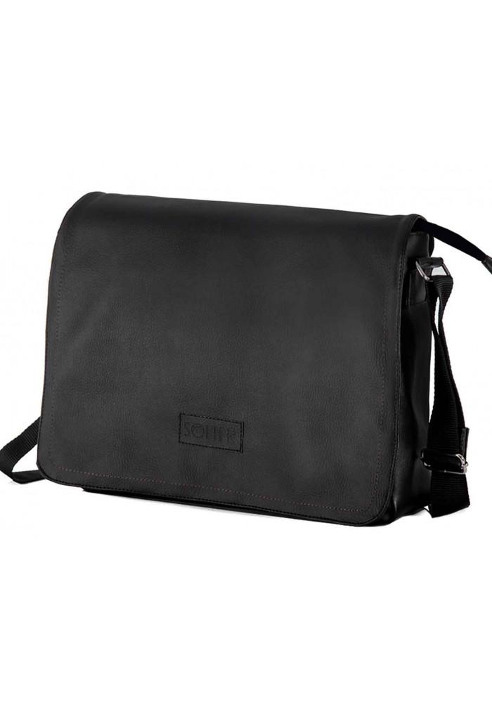 Мужская сумка мессенджер Solier S11 Black
