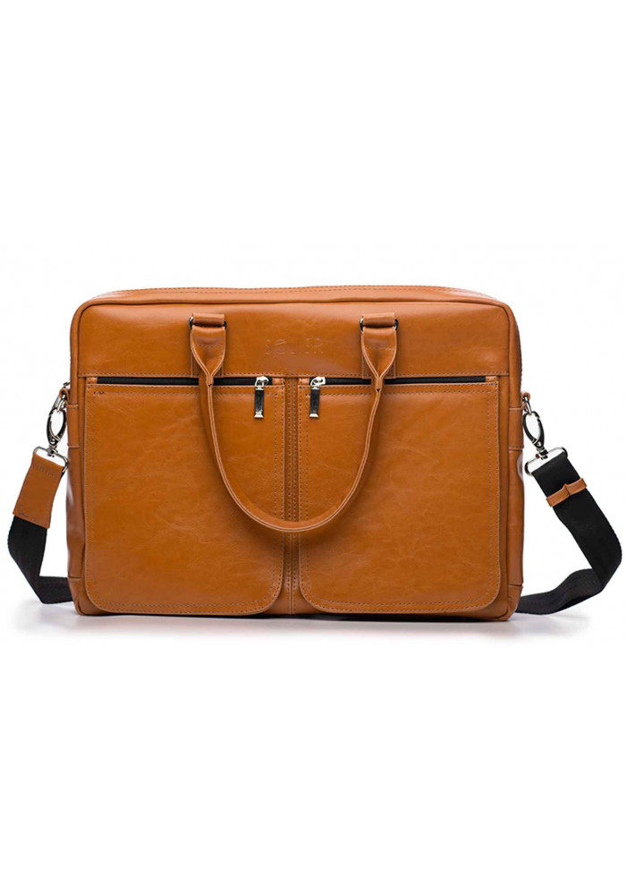 25c5cdb509f6 Кожаная сумка для ноутбука 17 дюймов Solier SL01 Camel, фото №2 - интернет  магазин ...