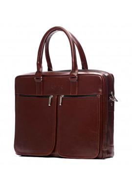 Фото Кожаная сумка для ноутбука 17 дюймов Solier SL01 Maroon