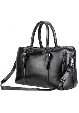 Фото Мужская дорожная сумка из кожи Solier SL16 Black