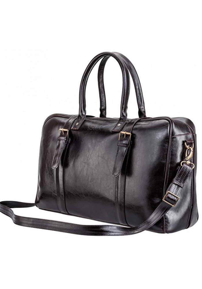 Мужская дорожная сумка из кожи Solier SL16 Brown