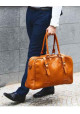 Мужская дорожная сумка из кожи Solier SL16 Camel