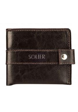 Фото Мужской коричневый бумажник из кожи Solier SW05 Brown