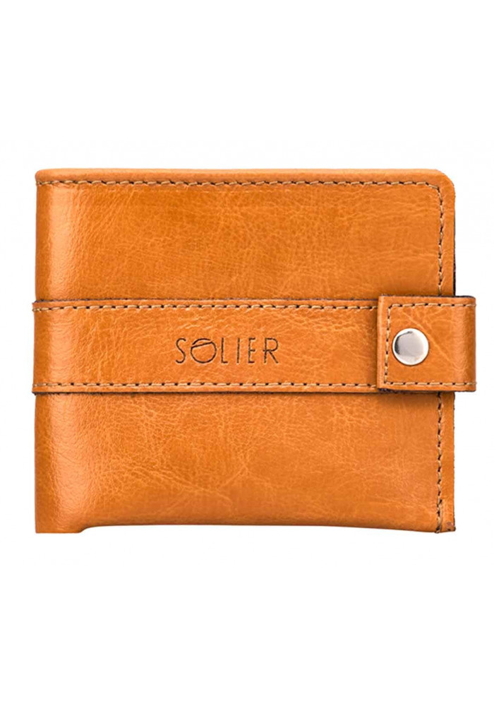 Мужской кошелек из кожи Solier SW05 Camel