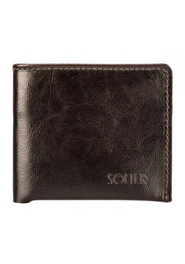 Фото Кожаный кошелек без застежки Solier SW05B Brown