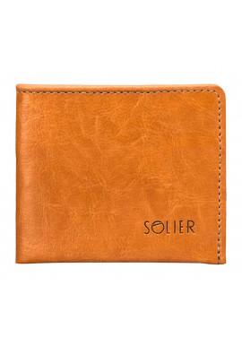 Фото Кожаный кошелек без застежки Solier SW05B Camel