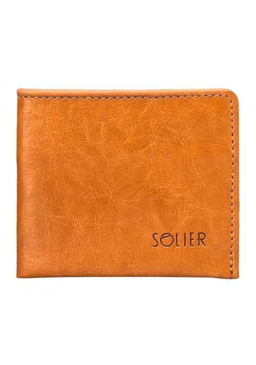 Кожаный кошелек без застежки Solier SW05B Camel