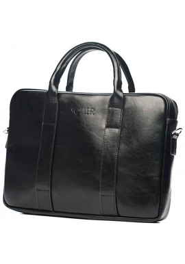 Фото Кожаный портфель для ноутбука Solier SL20 Black
