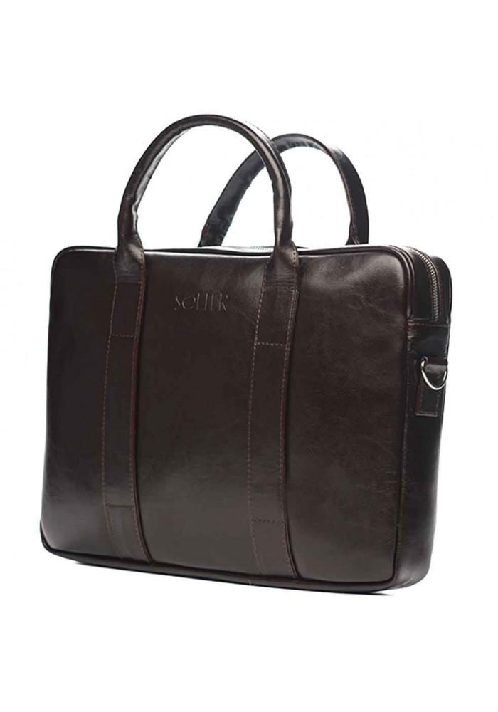 Фото Кожаный портфель для ноутбука Solier SL20 Brown