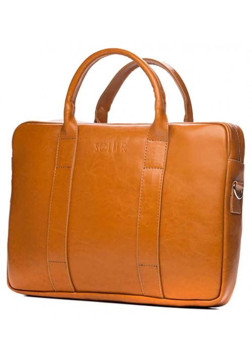 Кожаный портфель для ноутбука Solier SL20 Camel