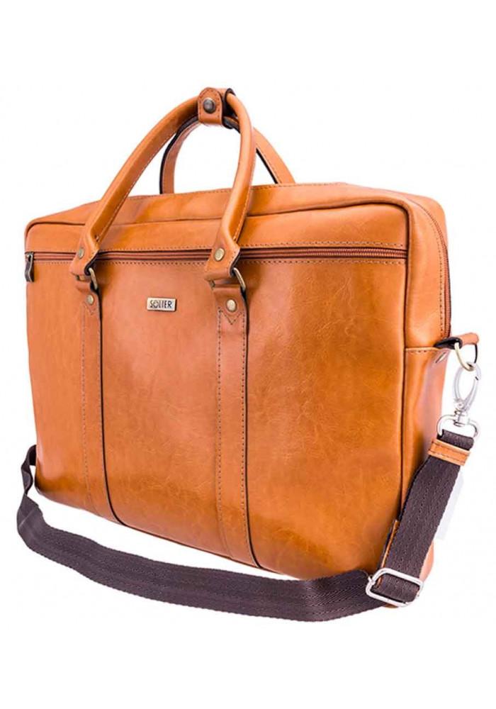 Портфель для ноутбука 17 дюймов Solier SL03 Camel