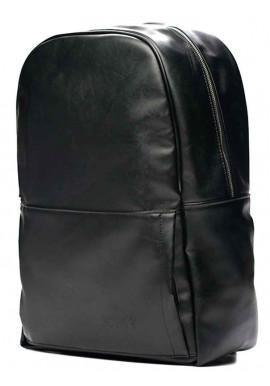 Фото Черный кожаный городской рюкзак Solier SR01 Black