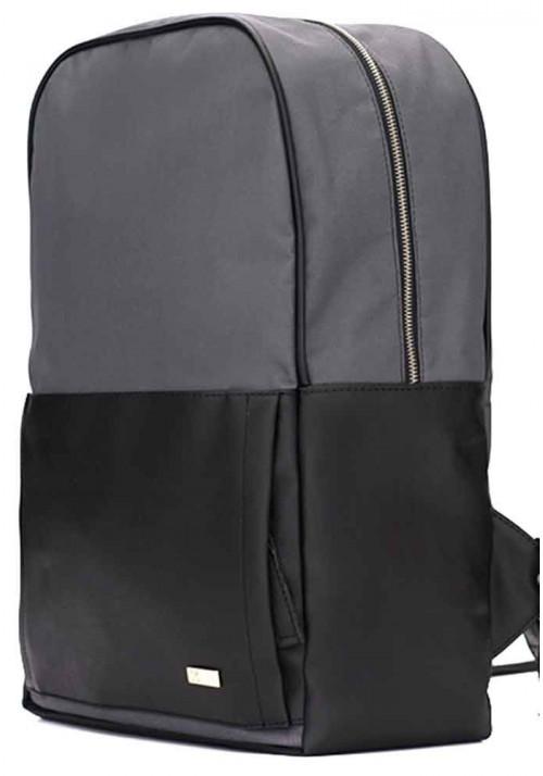Серо-черный городской рюкзак Solier SR01 Black and Grеy