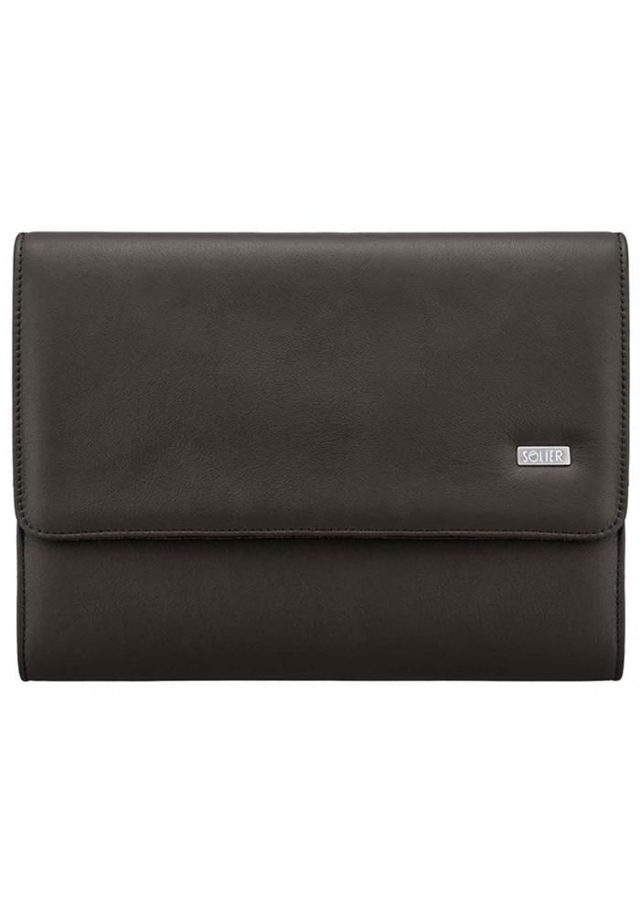 Папка для ноутбука или планшета 13 дюймов Solier SA01 Dark Brown