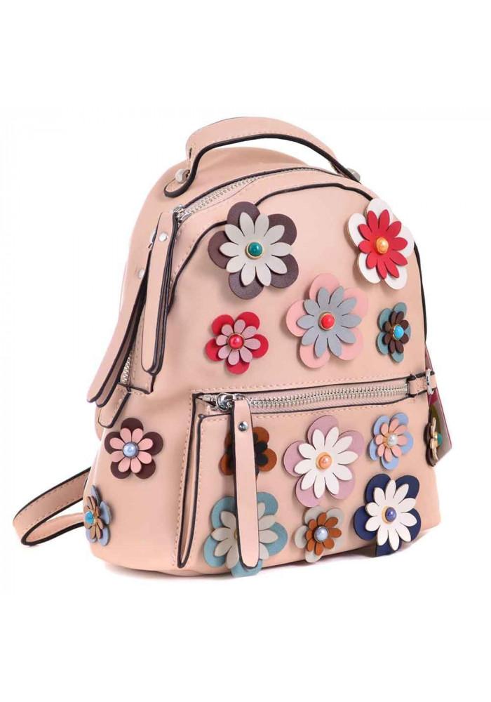 Молодежный рюкзачок с цветами YES WEEKEND Пудра