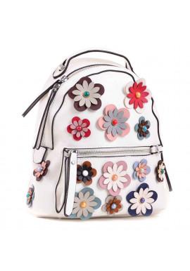Фото Молодежный рюкзачок с цветами YES WEEKEND Белый