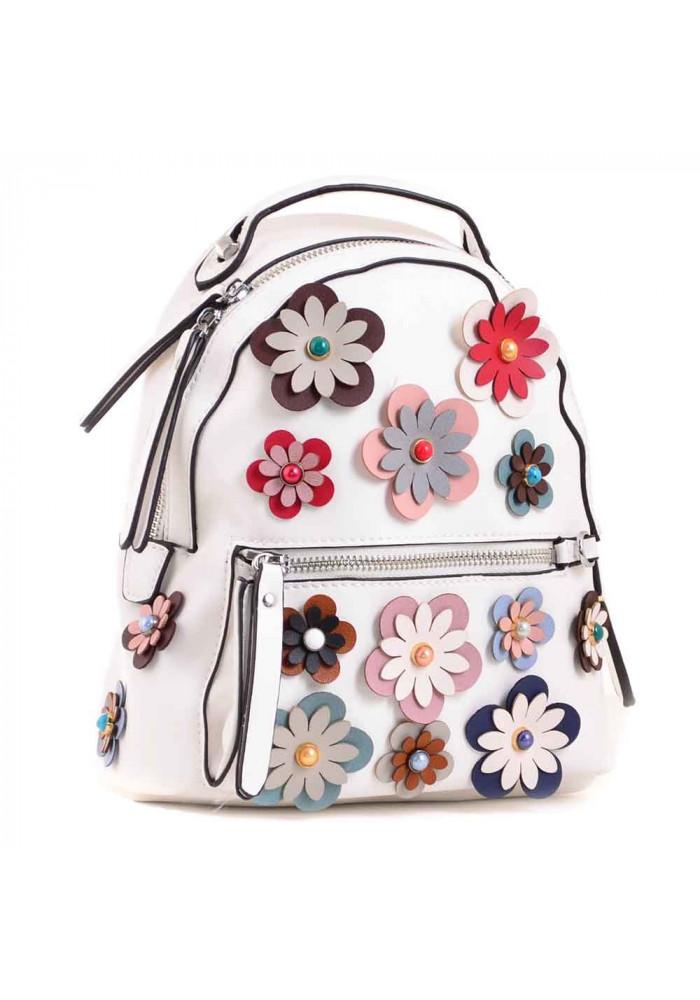 Молодежный рюкзачок с цветами YES WEEKEND Белый