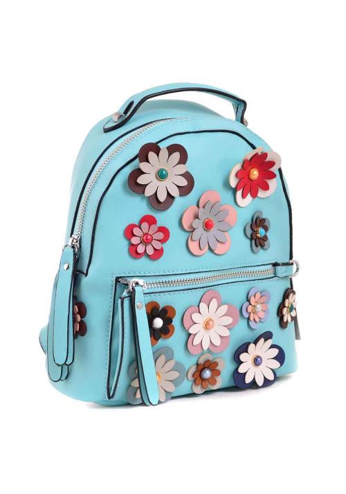Молодежный рюкзачок с цветами YES WEEKEND бирюзовый