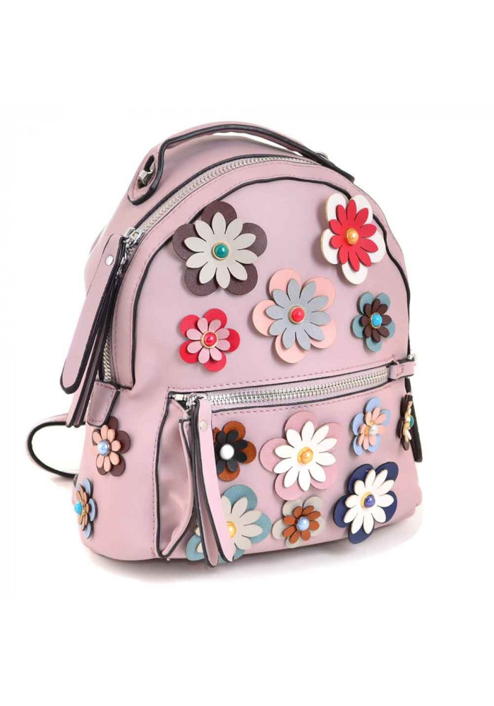 Молодежный рюкзачок с цветами YES WEEKEND сиреневый