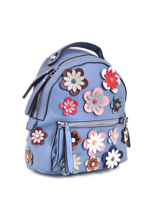 Молодежный рюкзачок с цветочками YES WEEKEND синий