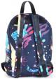 Синий рюкзак с ярким принтом YES WEEKEND