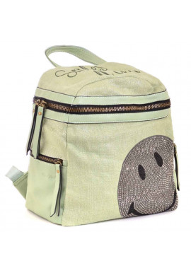 Фото Женский рюкзачок со смайликом YES WEEKEND зеленый