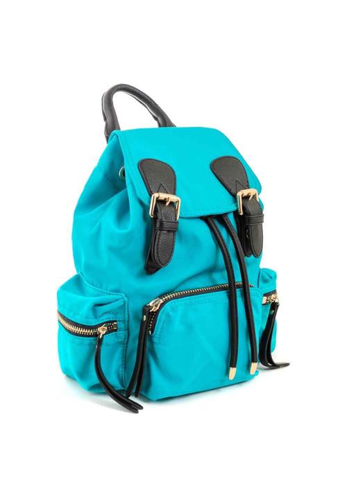 Бирюзовый молодежный рюкзачок из ткани YES WEEKEND