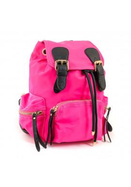 Фото Малиновый молодежный рюкзак из ткани YES WEEKEND