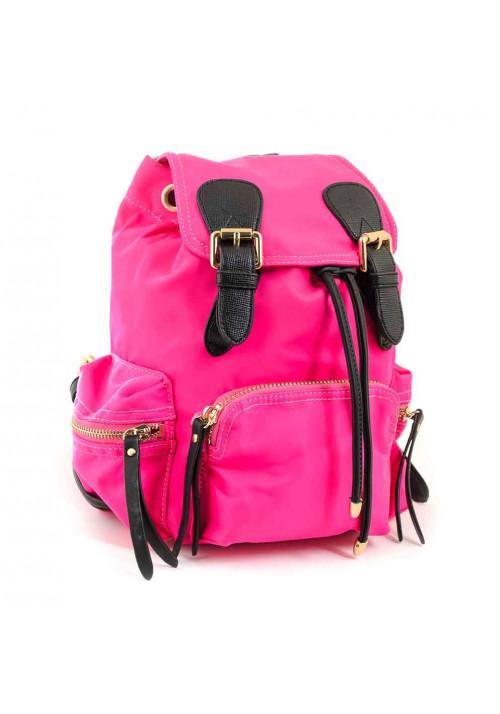 Малиновый молодежный рюкзак из ткани YES WEEKEND