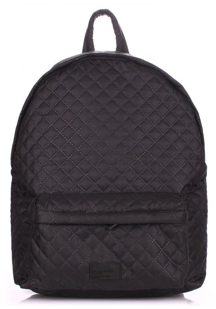 Рюкзак молодежный стеганный черный Poolparty