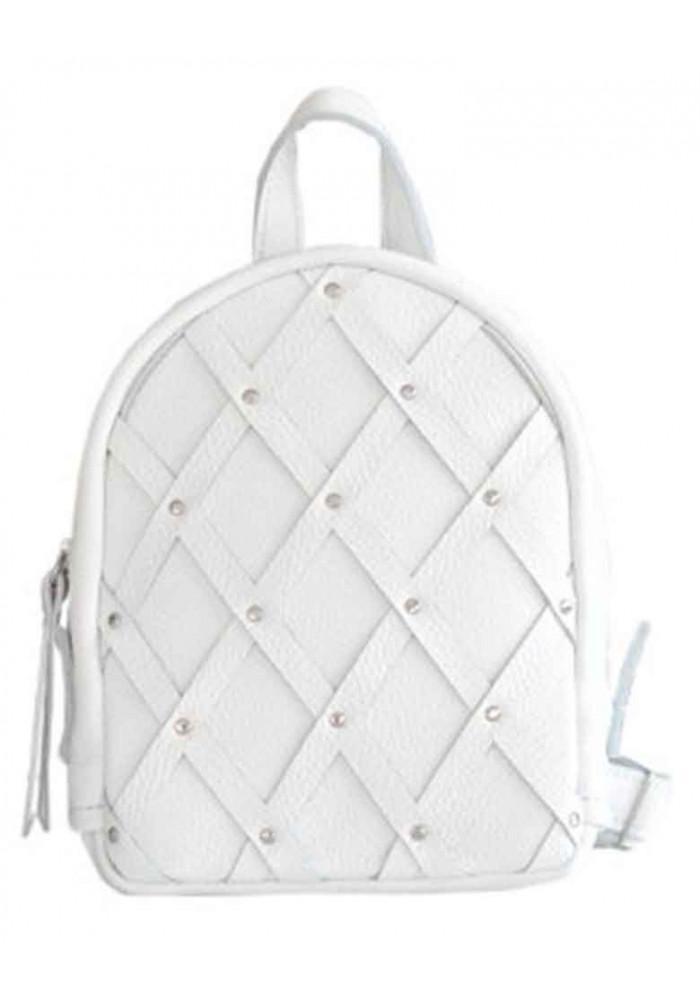 белый молодежный маленький рюкзачок Baby Archer White