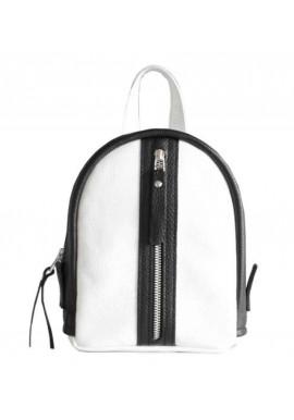 Фото Бело-черной женский красивый рюкзак Baby Sport White Zipper