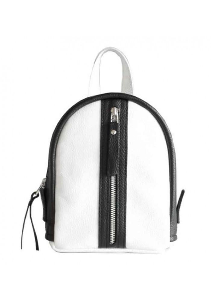 Бело-черной женский красивый рюкзак Baby Sport White Zipper