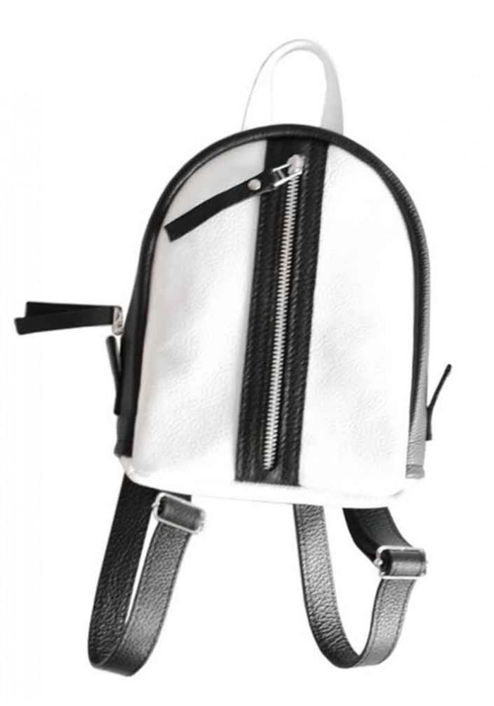 3e40c17eead1 ... Бело-черной женский красивый рюкзак Baby Sport White Zipper, фото №7 -  интернет