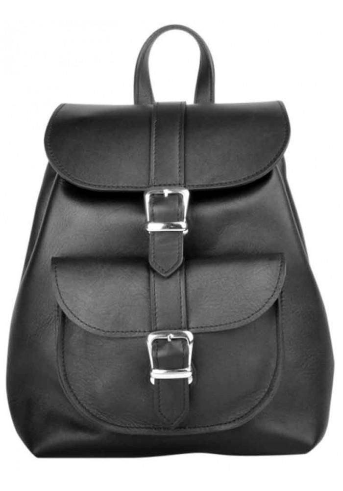 258c0dd9d654 ... Женский рюкзак из гладкой кожи Classic Black, фото №2 - интернет  магазин stunner.