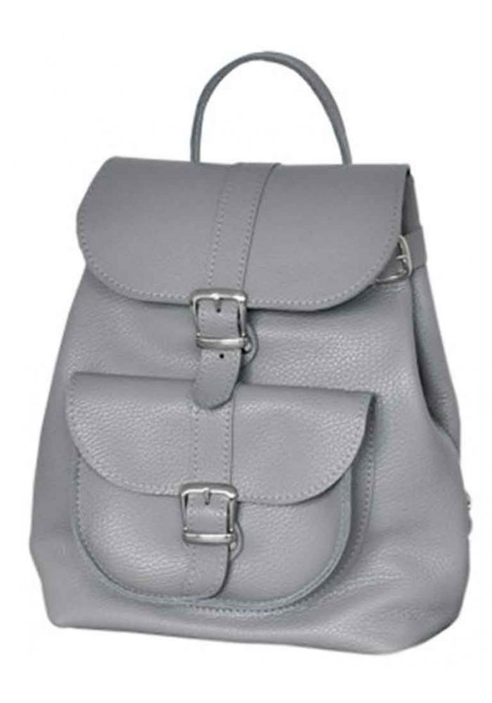 Женский кожаный рюкзак Classic Grey