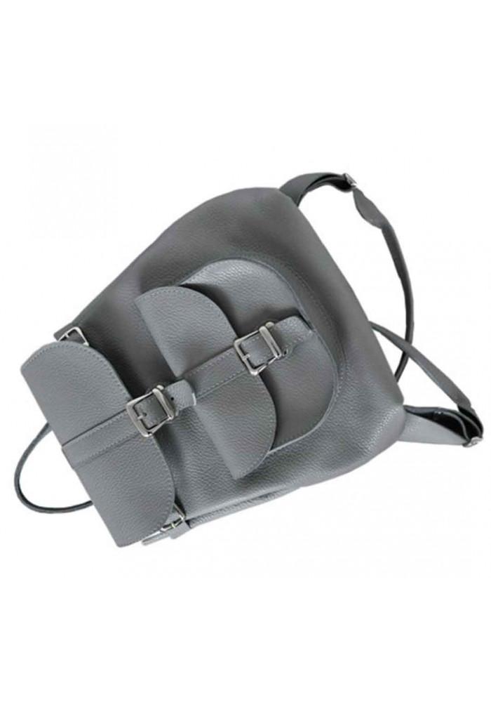 20e87cf3984e Женский кожаный рюкзак Classic Grey, фото №4 - интернет магазин stunner.com.