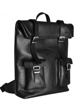 Фото Большой рюкзак Mount Black из гладкой кожи