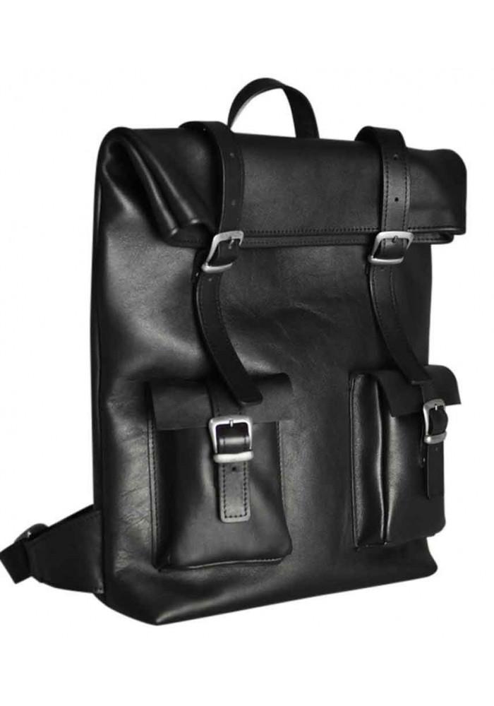 Большой рюкзак Mount Black из гладкой кожи