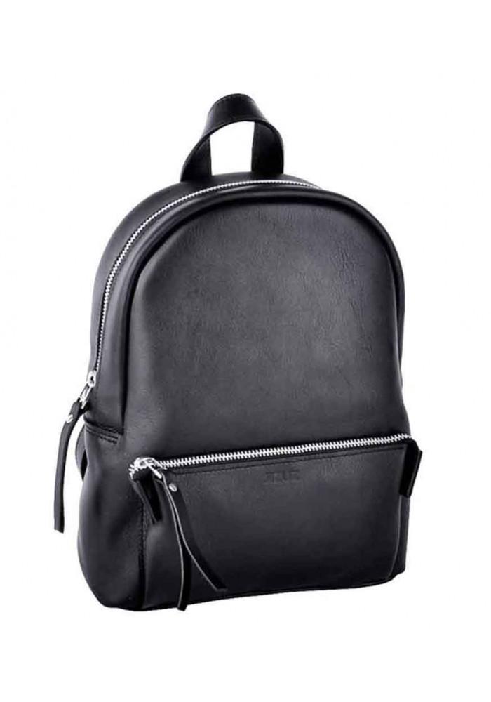 Модный женский рюкзак Pilot-S Black из гладкой кожи