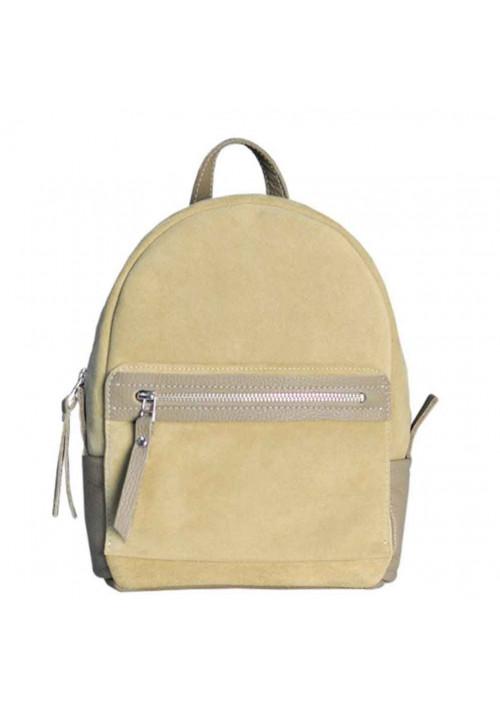 Замшевый рюкзак женский Sport Beige