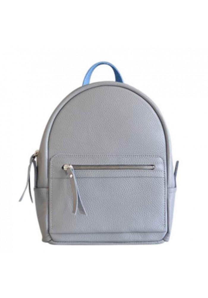 Серый женский кожаный рюкзак Sport Grey Mix